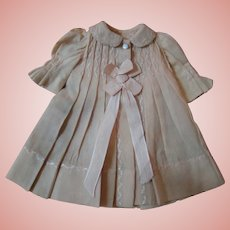 Lovely Antique Wool Challis Coat Dress for a 13-14 Inch Doll