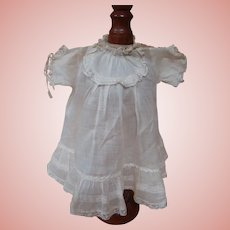 1890's Factory Antique Toddler Dress, Beautiful White Lawn Fabric
