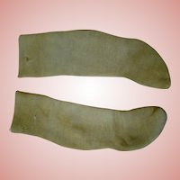 Late 1800's Golden Brown Cotton Socks for French Fashion Doll