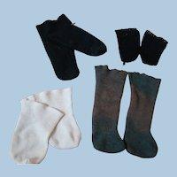 4 Pair of Cotton Doll Socks