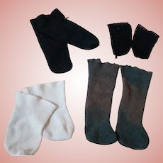 4 Pair of Cotton Doll Socks