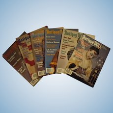 6 Issues of Antique Doll Collector Magazine, Year 2002