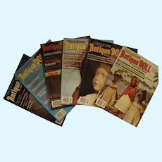 6 Issues of Antique Doll Collector Magazine, Years 2011; 2014; 2015; and 2018