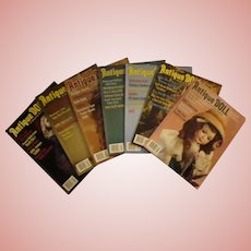 7 Back Issues of Antique Doll Collector Magazine, Years 2008 and 2009