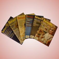 6 Issues of Antique Doll Collector Magazine, Year 2008