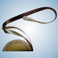 """Approximately 5 Yds of Double Sided """" Duplex """" Silk Ribbon, Brown and Mocha"""