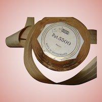 Near 10 Yds of Beautiful Cocoa Eyelash Rayon Ribbon, Made in Switzerland