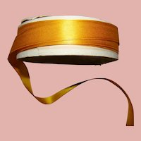 Approximately 3 yds of Gold Satin and Taffeta Ribbon