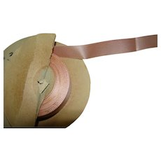 Approximately 24 Yds of 5/8 In. Pink Silk Rayon Ribbon for Doll Dressing