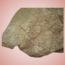 20 In. of Beautiful Vintage Silk Fabric with Coordinating Lace for Trim or Overlay