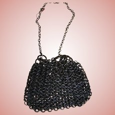 Small Antique Mesh Metal Chain Purse for Dolls