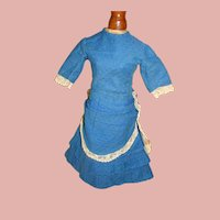 Lovely Antique Handmade French Fashion Dress for 19-20 In. Poupee