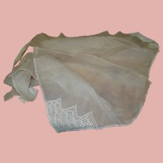 Piece of Pale Pink Organdy Fabric for Doll Dressmaking
