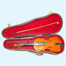 Doll-size Violin in Original Case with Bow