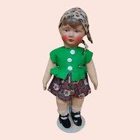 """11 In. """" Kruse Type """" Bing Art Doll, Germany 1921-1932, Original"""