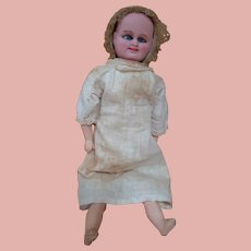 Original 16 Inch German Multi-Faced and Crying Doll by Carl Bergner - Cir: 1888