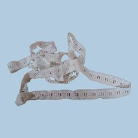 3 Yds. of Old White Cotton Eyelet for Encasing in Fabric and Threading Ribbon in Doll Dressing