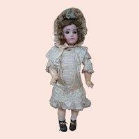 26 In. Long-Face Triste Bebe, Carrier-Belleuse, Designer, Size 12, Original 8-Ball Jumeau Body, 1879-1886