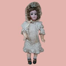 26 In. Long-Face Triste Bebe, Carrier-Belleuse, Designer, Size 12, Original 8-Ball Jumeau Body, 1879-1886