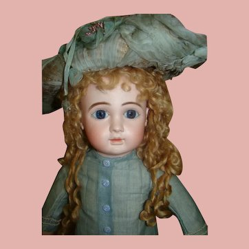 22 In. French Bebe Steiner Fre A, Mkd Steiner body, Large Blue Paperweight Eyes, ca:  1887