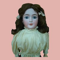 22.5 In. German Simon Halbig Mold #1159 Lady Doll in her Antique Finery, ca: 1910