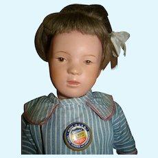 15 In. Near Mint Schoenhut Character, Wigged, Original Pin, Knit Union Suit