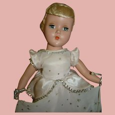 "14 In. 1950's Hard Plastic Nancy Lee "" Cinderella "" by Arranbee"