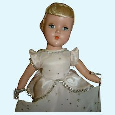 "14 In. 1950's Hard Plastic Nancy Lee "" Cinderella "" by Arranbee"