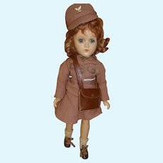 14 In. Composition Madame Alexander Wendy Ann W.A.A.C. (Army) Doll, Ca:  1942; Original and Near Mint