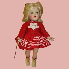 15.5 Inch Hard Plastic Toni by Ideal, ca: Late 1940's - 1950's; Mary Hartline Costume, Excellent Condition