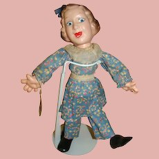 12 In. Composition Flexy Doll Baby Snooks ( Fannie Brice ) by Ideal Novelty Toy Co., Late 1930's