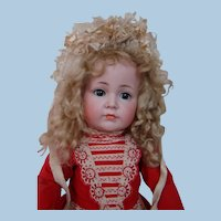 """21 In. German Bisque Head Character Child #117A """" Mein Leibling """" by Kammer & Reinhardt"""