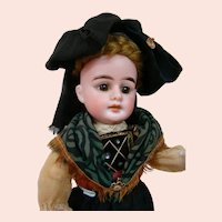 Factory Original 12.5 In. German Bisque Head Doll by Peter Scherf, Sonneberg, Germany