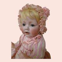 "17 In. "" Hilda,"" German Character Baby, Wigged Version, by J. D. Kestner Mold #245, ca: 1910"