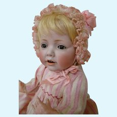 "17 In. "" Hilda,"" German Character Baby, Wigged Version, by J. D. Kestner Mold #245, ca: 1910"
