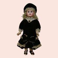 """24 In. French Bisque Head Bebe Phenix (Jules Steiner) 1895-1901, Marked """" 91 """""""