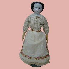 26-3/4 In. Black Hair China Shoulder Head, Alt, Beck & Gottschalck, ca: 1860's