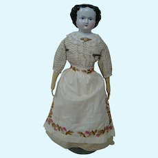26-3/4 In. Black Hair China Shoulder Head, Alt, Beck & Gottschalck, ca: 1860's