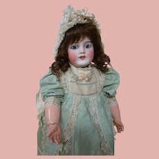 """22 In. Antique French """" Limoges """" Bebe, Early 1900's, Antique Clothing, Boots, Bonnet"""