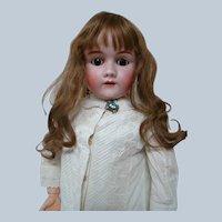 33.5 German Heinrich Handwerck Child Doll, Head by Simon Halbig, Stamped Original Body