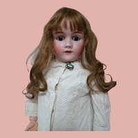 ON HOLD......33.5 German Heinrich Handwerck Child Doll, Head by Simon Halbig, Stamped Original Body