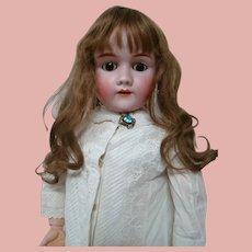 ON HOLD......33.5 German Heinrich Handwerck Child Doll, Head by Simon Halbig, Stamped Original Body