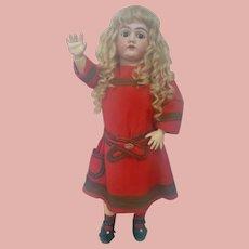 31.5 In. German Heinrich Handwerck Bisque Head Doll on Original Marked Body