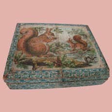 19th Century 6 Wooden Block Puzzles in Original Wood Box, Lithography