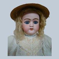 25 In. Early German Bisque Head Child Doll Mold #109, Heinrich Handwerck