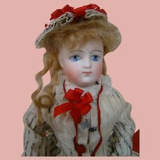 12 In. Lovely Teen Fashion Poupee Bisque Shoulder Head, Kid Body, Very Dramatic Eyes