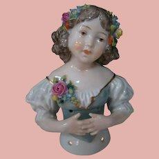 Exquisite Porcelain Child Half Figure, Ernst Bohne Sohne, Rudolstadt