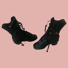 Antique High Top Lace-up Leather Boots for Large Dolls