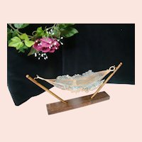 Old Cotton Knitted Hammock with Stand for 4-6 inch Doll