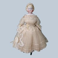 12 In. Antique Parian Type Young Lady Alice Hairdo with Head Band